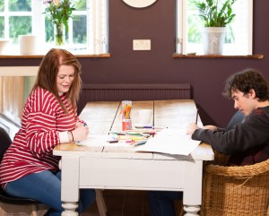Chaos carer with client
