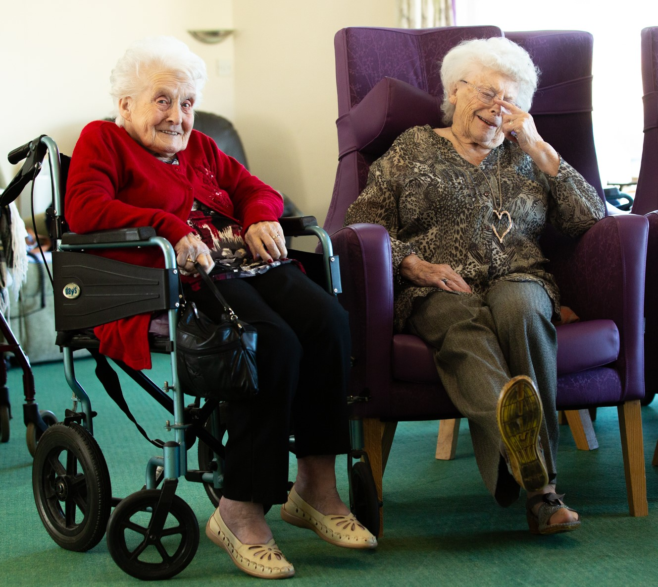 Get started in social care - ladies laughing